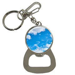 Sky Blue Clouds Nature Amazing Button Necklaces by Simbadda