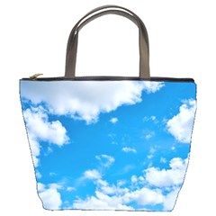 Sky Blue Clouds Nature Amazing Bucket Bags by Simbadda