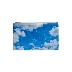 Sky Blue Clouds Nature Amazing Cosmetic Bag (small)  by Simbadda