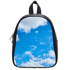 Sky Blue Clouds Nature Amazing School Bags (small)  by Simbadda