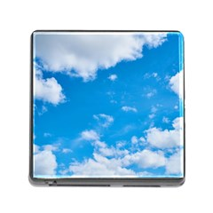 Sky Blue Clouds Nature Amazing Memory Card Reader (square) by Simbadda