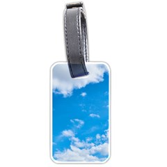 Sky Blue Clouds Nature Amazing Luggage Tags (two Sides) by Simbadda