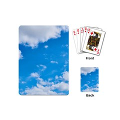 Sky Blue Clouds Nature Amazing Playing Cards (mini)  by Simbadda