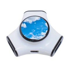 Sky Blue Clouds Nature Amazing 3 Port Usb Hub