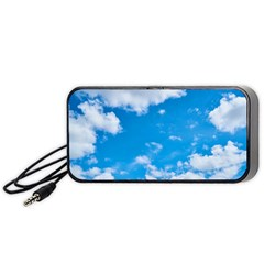 Sky Blue Clouds Nature Amazing Portable Speaker (black)