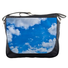Sky Blue Clouds Nature Amazing Messenger Bags by Simbadda