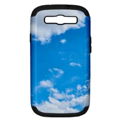 Sky Blue Clouds Nature Amazing Samsung Galaxy S Iii Hardshell Case (pc+silicone) by Simbadda