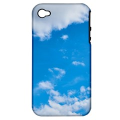 Sky Blue Clouds Nature Amazing Apple Iphone 4/4s Hardshell Case (pc+silicone) by Simbadda