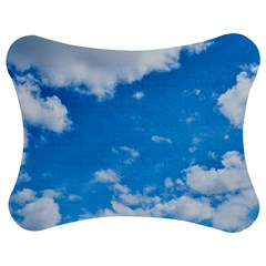 Sky Blue Clouds Nature Amazing Jigsaw Puzzle Photo Stand (bow) by Simbadda