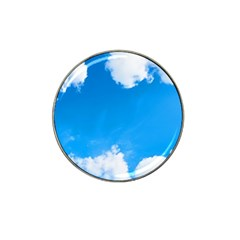 Sky Clouds Blue White Weather Air Hat Clip Ball Marker by Simbadda