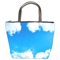 Sky Clouds Blue White Weather Air Bucket Bags by Simbadda