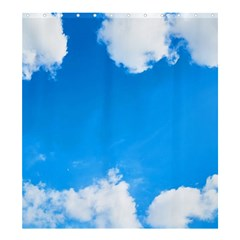 Sky Clouds Blue White Weather Air Shower Curtain 66  X 72  (large)  by Simbadda