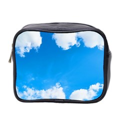 Sky Clouds Blue White Weather Air Mini Toiletries Bag 2 Side by Simbadda