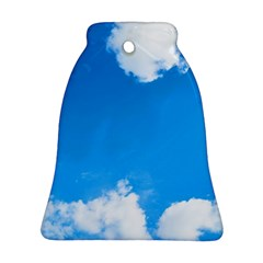 Sky Clouds Blue White Weather Air Bell Ornament (two Sides)