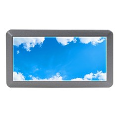 Sky Clouds Blue White Weather Air Memory Card Reader (mini) by Simbadda
