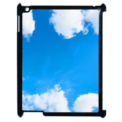 Sky Clouds Blue White Weather Air Apple Ipad 2 Case (black) by Simbadda