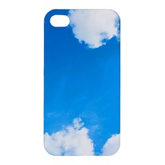 Sky Clouds Blue White Weather Air Apple Iphone 4/4s Hardshell Case by Simbadda
