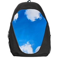 Sky Clouds Blue White Weather Air Backpack Bag by Simbadda