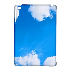 Sky Clouds Blue White Weather Air Apple Ipad Mini Hardshell Case (compatible With Smart Cover) by Simbadda