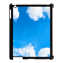 Sky Clouds Blue White Weather Air Apple Ipad 3/4 Case (black) by Simbadda