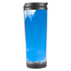 Sky Clouds Blue White Weather Air Travel Tumbler by Simbadda