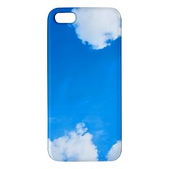Sky Clouds Blue White Weather Air Iphone 5s/ Se Premium Hardshell Case by Simbadda