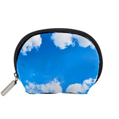 Sky Clouds Blue White Weather Air Accessory Pouches (small)  by Simbadda