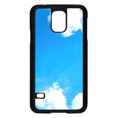 Sky Clouds Blue White Weather Air Samsung Galaxy S5 Case (black) by Simbadda