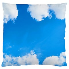Sky Clouds Blue White Weather Air Standard Flano Cushion Case (one Side) by Simbadda