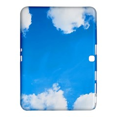 Sky Clouds Blue White Weather Air Samsung Galaxy Tab 4 (10 1 ) Hardshell Case  by Simbadda