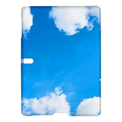 Sky Clouds Blue White Weather Air Samsung Galaxy Tab S (10 5 ) Hardshell Case  by Simbadda