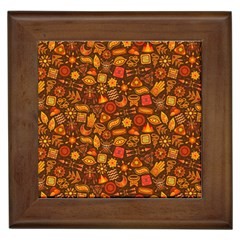 Pattern Background Ethnic Tribal Framed Tiles by Simbadda