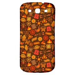 Pattern Background Ethnic Tribal Samsung Galaxy S3 S Iii Classic Hardshell Back Case by Simbadda