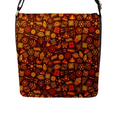 Pattern Background Ethnic Tribal Flap Messenger Bag (l)  by Simbadda