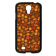 Pattern Background Ethnic Tribal Samsung Galaxy S4 I9500/ I9505 Case (black) by Simbadda