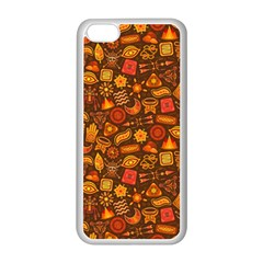 Pattern Background Ethnic Tribal Apple Iphone 5c Seamless Case (white) by Simbadda