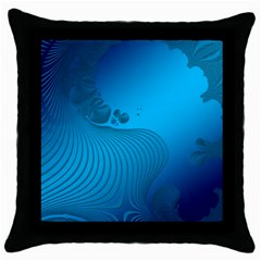 Fractals Lines Wave Pattern Throw Pillow Case (black) by Simbadda