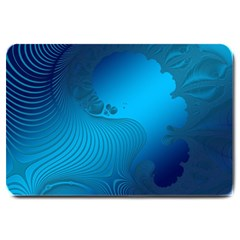Fractals Lines Wave Pattern Large Doormat  by Simbadda