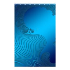 Fractals Lines Wave Pattern Shower Curtain 48  X 72  (small)  by Simbadda
