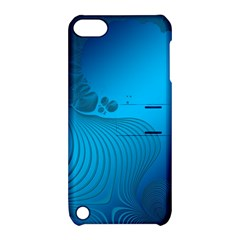 Fractals Lines Wave Pattern Apple Ipod Touch 5 Hardshell Case With Stand by Simbadda