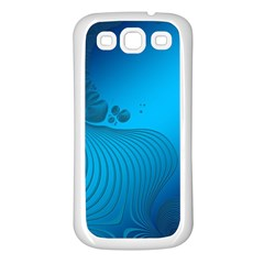 Fractals Lines Wave Pattern Samsung Galaxy S3 Back Case (white) by Simbadda