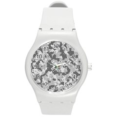 Camouflage Patterns  Round Plastic Sport Watch (m) by Simbadda