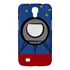 A Rocket Ship Sits On A Red Planet With Gold Stars In The Background Samsung Galaxy Mega 6 3  I9200 Hardshell Case by Simbadda