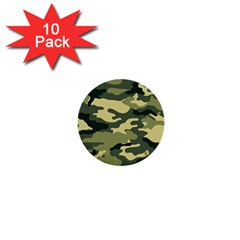 Camouflage Camo Pattern 1  Mini Buttons (10 Pack)