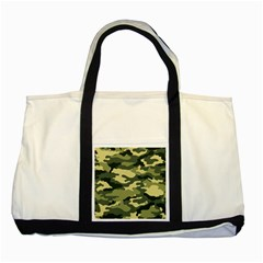 Camouflage Camo Pattern Two Tone Tote Bag by Simbadda
