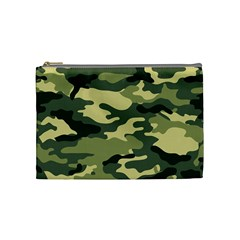 Camouflage Camo Pattern Cosmetic Bag (medium)  by Simbadda