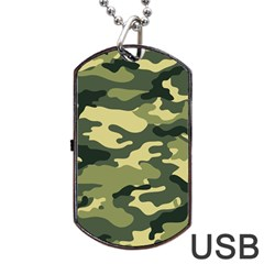 Camouflage Camo Pattern Dog Tag Usb Flash (one Side)