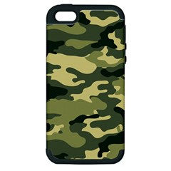 Camouflage Camo Pattern Apple Iphone 5 Hardshell Case (pc+silicone) by Simbadda