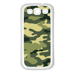 Camouflage Camo Pattern Samsung Galaxy S3 Back Case (white) by Simbadda