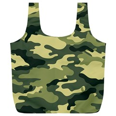 Camouflage Camo Pattern Full Print Recycle Bags (l)  by Simbadda